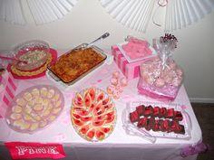 PINK party; food display