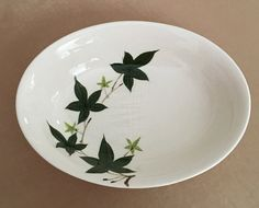 Kanedai Ivy Bowl Ivy Serving Bowl Hand Painted by DotnBettys