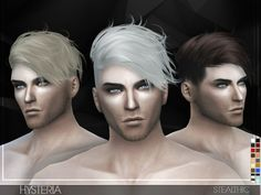 Hysteria male side sweep hair for The Sims 4