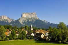 Mount Aiguille above the village of Chichilianne by Corbis Valence, Grenoble, Rhone, Beautiful World, Monument Valley, Places To Go, Europe, Vacation