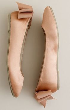Ballet flats. Never too much of these. Lovely color and bows