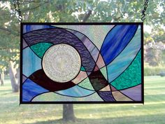 stained glass panel for kitchen window
