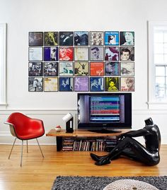 plastic cd deocrative wall