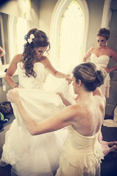 This Bride's hair is beautiful! Photo by Kelly T. #MinneapolisBridalHairAndMakeup #BridalHairstyles #WeddingHair