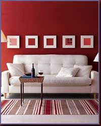Modern Wall Wallpaper and Wall Stickers. Vinyl Wall Quotes, Vinyl Wall Decals, Wall Stickers, Living Room Red, Living Room Decor, Decoration Bedroom, Wall Decor, Red Rooms, Red Walls