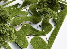 Penda's winding green pathway at the 2015 Garden Expo lets visitors experience life as a river