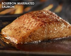 See three classic recipes inspired by our most popular LongHorn Favorites: Grilled Ribeye, Bourbon Marinated Salmon and Parmesan Baked Chicken. Salmon Dishes, Fish Dishes, Seafood Dishes, Baked Salmon Recipes, Fish Recipes, Seafood Recipes, Yummy Recipes, Recipies, Salmon Marinade