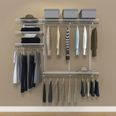 Organized Living FreedomRail 6 Foot White Ventilated Closet Kit By  FreedomRail
