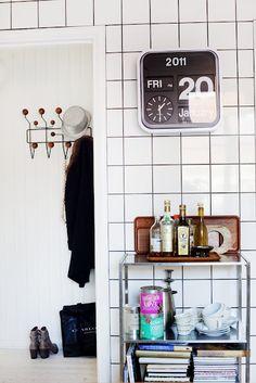 Via Blackbird   Hallway   Eames Hang it All   Karlsson Flip Clock