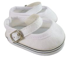 65e83fe8ba8f59 White Canvas Mary Jane Sneakers Shoes for 18