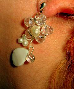 Wedding Pearls EARRINGS, Swarovski elements from CamelysUnikatBijoux by DaWanda.com