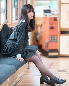 kuroさんはInstagramを利用しています:「次回 2019年3月9日、10日に 長崎であるキャラめるポップのロケにて model ぴす @naphthalene_p_ photo by kuro #cosplay #cosplayer #コスプレ #コスプレイヤー #coser #jk #photographer…」 Cute School Uniforms, School Uniform Girls, Redhead Girl, Brunette Girl, School Girl Outfit, Girl Outfits, Cute Asian Girls, Cute Girls, Cute Girl Dresses