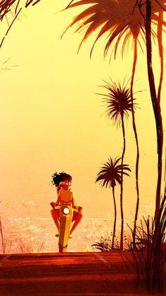 Kai Fine Art is an art website, shows painting and illustration works all over the world. Pascal Campion, Photo D Art, Art Graphique, Girl Cartoon, Illustrations Posters, Vintage Illustrations, Amazing Art, Graphic Art, Book Art