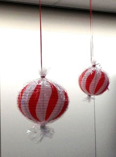 DIY 'Candy Mint' Ornaments: Spotted at the Delta counter in Des Moines! #Ornaments #Holiday by carmela/ Des Moines Iowa