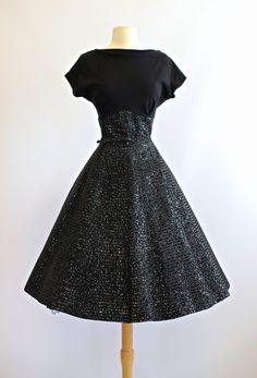 Vintage 1950s Cocktail Dress  Vintage 50s Party by xtabayvintage