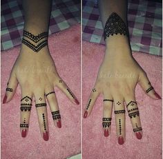 Simple henna Pretty Henna Designs, Bridal Henna Designs, Henna Designs Easy, Henna Tattoo Designs, Mehndi Designs, Tattoo Ideas, Modern Henna, Henna Paint, Sharpie Tattoos