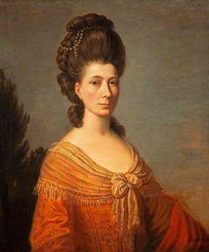 Mrs James Tassie, probably Ann Harker (1730–1790) by David Allan, 1778-1779,  National Galleries of Scotland
