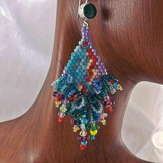 Seed Bead Earrings 2 inch 5cm Drops Fringe Earrings by BeadDweeb, $75.00