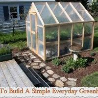 How To Build A Simple Everyday Greenhouse #greenhouseeffect