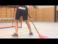 Floorball skills and shoots - YouTube