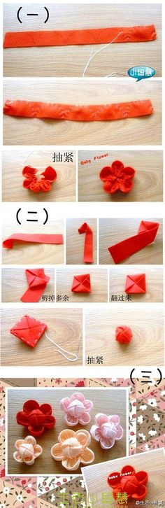 cool baby flower. great for kids to practice simple sewing