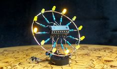 Diy Electronics, Electronics Projects, Arduino Projects, Electronic Art, Jewelry Crafts, Clock, Coding, Invitations, Retro