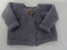 Easy Baby Knitting Patterns, Baby Cardigan Knitting Pattern Free, Knitting For Kids, Baby Kimono, Knit Baby Sweaters, Knitted Dolls, Pulls, Couture, Pullover
