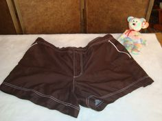 Faded Glory Sz XL 16-18 Women's Brown Swim Trunks Shorts #FadedGlory #SwimShorts