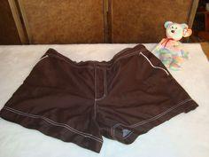 Faded Glory Sz XL 16-18 Women's Brown Swim Trunks Shorts #FadedGlory #SwimShorts