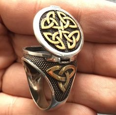 925 Sterling Silver Ring with Poison Box unique mens jewelry by KaraJewels   Jewelry & Watches, Men's Jewelry, Rings   eBay!