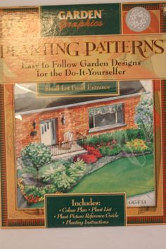 Planting Patterns Design Small Lot Front Entrance Plans List Instructions Guide #GardenGraphics