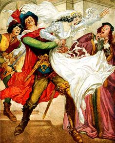 """Willy Pogany, American Weekly, """"The Taming of the Shrew"""" (1950)"""