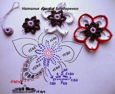 """Irish crochet &: """"Тайны Востока"""" Топ Натальи Бондаренко"""