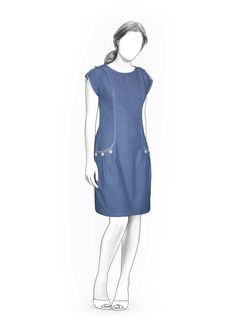 Kleid  - Schnittmuster #4026 Made-to-measure sewing pattern from Lekala with free online download.