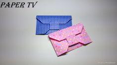 [Paper TV] Origami wallet 지갑 3 종이접기 折り紙 財布 como hacer una billetera de p...