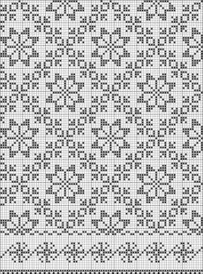 Which I'll be using for filet crochet or maybe even cross stitch Motif Fair Isle, Fair Isle Chart, Fair Isle Pattern, Fair Isle Knitting Patterns, Knitting Charts, Knitting Stitches, Knitting Machine, Loom Knitting, Knitting Designs