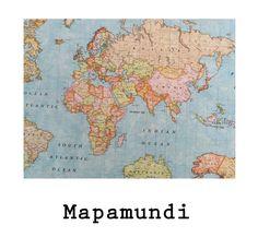 tela resinada Mapamundi disponible en todos los productos Arethaju