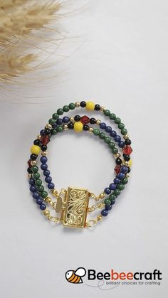 tutorial on making with - DIY Schmuck Bracelet Crafts, Diy Crafts Jewelry, Jewelry Making Beads, Bracelet Making, Beads Making, Diy Jewelry Necklace, Bead Jewellery, Beaded Jewelry, Diy Jewelry Making