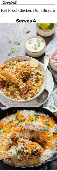 Chicken Dum Biryani - Fail proof super delicious chicken dum biryani made easily at home #dinner #weekend