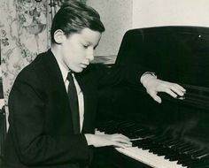 Glenn Gould as a young pianist  in Canada.