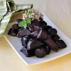 Balsamic and Honey Roasted Beets - a simple delicious side dish or a great addition to a spinach and goat cheese salad.