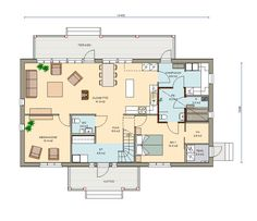 Kuva Future House, Sweet Home, Floor Plans, Layout, Building, Design, Flow, House Ideas, House