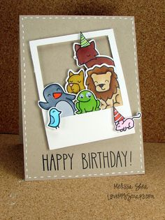 Lawn Fawn - Say Cheese Lawn Cuts Die, Critters in the Forest, …._ Love My Scraps: Happy Birthday, Kelly Marie!!!