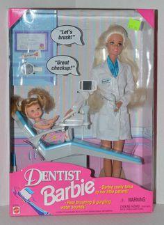 Dentist Barbie and Kelly Dolls, 1997