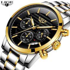 17e9f3f7c5a 2018 New Watches Men Luxury Brand LIGE Chronograph Men Sports Watches  Waterproof Full Steel Quartz Men s Watch Relogio Masculino