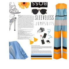 """""""All-in-One: Sleeveless Jumpsuits"""" by mangoexotic ❤ liked on Polyvore featuring Roksanda, Prada, Milly, Balmain, Mariah Rovery, Christian Dior, Sigma Beauty, Jane Iredale, Pomellato and sleevelessjumpsuits"""