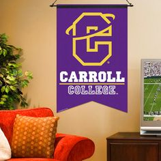 Carroll College Fighting Saints 17'' x 26'' Premium One-Sided Banner - Purple - $17.09