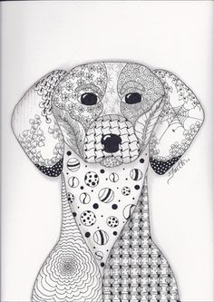 Dog Colouring Pages For Adults