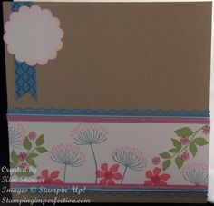 Stampin Up! Did It Again! Summer Silhouette Scrapbook layout with Stamping Imperfection