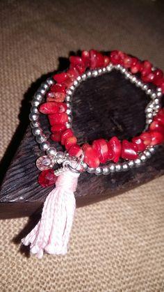Boho tassel, stacking bracelet  £10.00